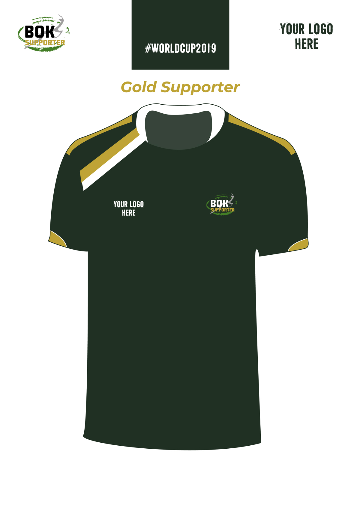 Bok Supporter Synergy Gold Unisex Sport Shirt