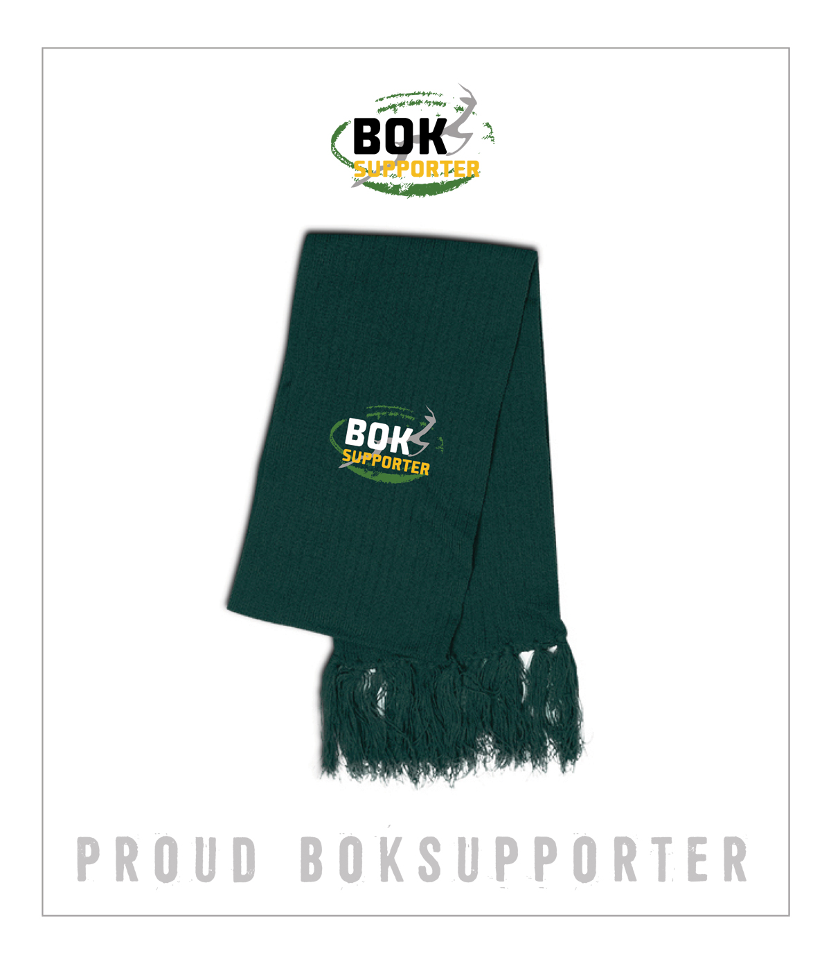 Bok Supporter Knitted Scarf