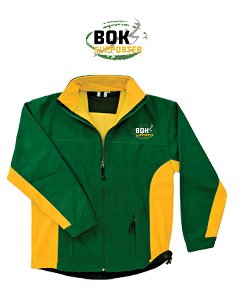 Bok Supporter Mens and Ladies Green and Gold Jacket